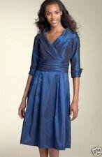 NWOT JS Boutique Blue Taffeta Shirt Dress SZ 4 BLUE
