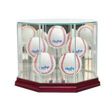 *New 5 Ball Glass Baseball Display Case MLB Free Shipping Made in USA