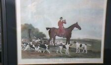 """1810 ORIGINAL PRINT """"THOMAS OLDAKER ON HIS MARE PICKLE WITH THE BERKLEY HOUNDS"""""""