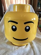 Large Yellow Lego Man Head Container. Discontinued. Very Rare!