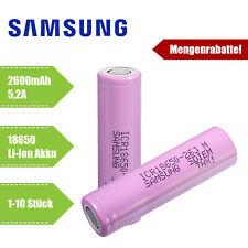 Samsung ICR 18650 26J Li-Ion Akku 2600 mAh 3,7V Lithium Ionen Zelle e-Zigarette