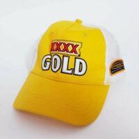 Mens XXXX Gold Yellow Truckers Strapback Cap V8 Mates One Size