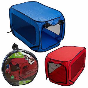 Large Portable Lightweight Pop Up Dog Pet Kennel House Travel Cage Puppy Cat Pet