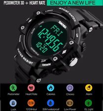 Fashion 3D Pedometer Heart Rate Monitor Calories Counter Digital Pulse Watch M32