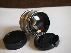 JUPITER-3 5 сm f/1,5 Red P Lens M39 for Rangefinder Camera Zorki FED Leca