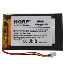 Hqrp Li-Pol 1200 mAh Battery Replacement for Garmin 361-00019-11 Gps