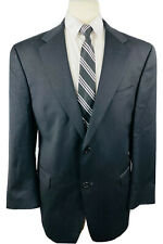 Austin Reed London Mens 44R Solid Black Wool Blazer Sport Coat Suit Jacket