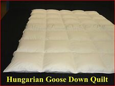 HUNGARIAN GOOSE DOWN QUILT SUPER KING SIZE   6 BLANKET WARMTH 100% COTTON COVER