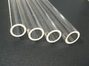 eXXtreme CPU Clear Acrylic Tube 16mm OD/12mm ID - 4 pack x 500mm Lengths.