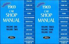 SHOP MANUAL 1969 SERVICE REPAIR FORD LINCOLN MERCURY BOOK RESTORATION GUIDE
