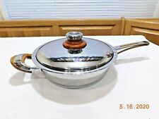 SILGA EKOLOGA COOKWARE DEEP ROUND SKILLET FRY PAN Stainless INDUCTION ITALY