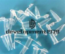100New Lab Clear Micro Plastic Test Tube Centrifuge Vial Snap Cap Containe 1.5ml