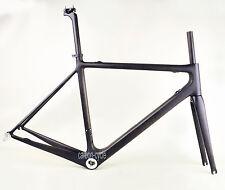 LIGHT 58cm Carbon Road Bike Frame Fork 700C Di2 BSA UD Matt Cycling seatpost