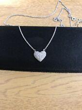 Beautiful Diamond Heart Necklace White Gold Yellow Gold