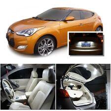 For Hyundai Veloster 2011+ Xenon White LED Interior kit +White License Light LED
