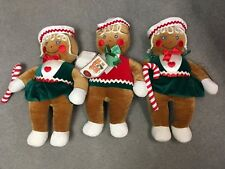 """Vintage Target GINGERBREAD BOY~2 GIRLS Plush 20"""" Stuffed Toys~With Tags"""
