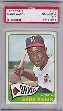 1965 Topps Hank Aaron #170, HOF, PSA NM-MT+ 8.5, Braves