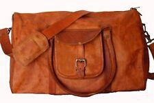 "22"" Women's genuine Leather large vintage Clothing Space Travel luggage bag"