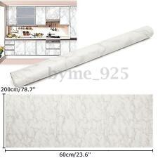 60cmx200cm PVC Gray Marble Decal Decor Vinyl Contact Paper Peel Stick Wallpaper