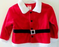 Santa Coat Jacket Suit Shirt Top Boys or Girls Size 18 Months Christmas Red