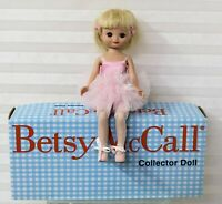 "Betsy McCall Takes a Ballet Class by Robert Tonner BMCL1101 8"" Doll w/Stand NOS"