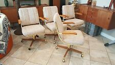 Vintage MidCentury Danish Modern Brass Clam Chair Office Cantilever Baughman