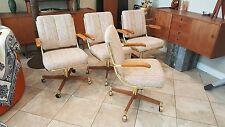 Lot Vintage MidCentury Danish Modern Brass Clam Chair Office Cantilever Baughman