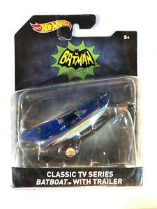 Hot Wheels Batman Classic TV Series Boat w Trailer Die Cast DC Mattel 2015