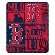 "Boston Red Sox MLB Northwest 50""x60"" Strength Fleece Throw Blanket FREE"