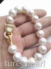 NEW HOT HUGE AAA 12-13MM South Sea White Pearl Bracelet 7.5 Inch