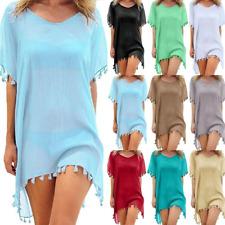 2020 Chiffon Tassels Beach Wear Women Swimsuit Cover Up Swimwear Bathing Suits S