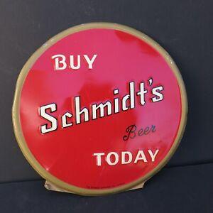 VINTAGE BUY SCHMIDT'S BEER TODAY - EMBOSSED TOC SIGN