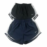 NIKE Dri-Fit Womens Tempo Running Shorts Navy Blue Black Lot Of 2 Size Large