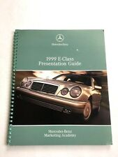 1999 Mercedes Benz E-Class W210 S210 E320 E300 E430 Dealer Car Brochure Guide