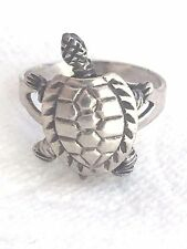 Vintage Sterling Silver Moving Turtle Ring Size 6 3.8g