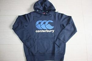 Canterbury Mens Classic Logo Navy Hoodie, (S M 2XL), with defects