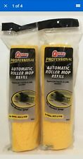 """2 x Quickie Professional Automatic Roller Mop Refill 12""""  #0553"""