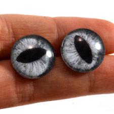 16mm Silver Cat or Dragon Glass Taxidermy Eyes