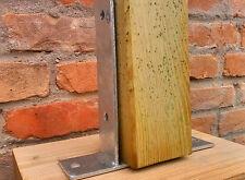 Staffa a P greco per fissaggio morali, portapilastro aperto per travi in legno