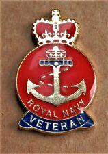 ROYAL NAVY VETERAN BRAND NEW MILITARY BRITISH ENAMEL PIN BADGE , POPPIES ...