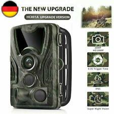 20MP Wildkamera Überwachungskameras 1080P FHD IP65 Jagdkamera 120° Nachtsicht DE