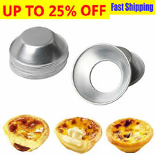 Molde de línea de aluminio 1/10PCS cupcake cookies Ping Redondo Huevo Tarta Hornear herramientas
