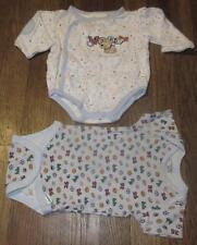 LOT/2 INFANTS SUNSHINE BABY/GERBER ONESIES ONE PIECE BOY TOPS SHIRTS~3-9  3/6~EC