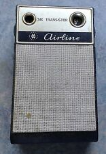 VTG Airline Six Transistor RADIO Made in Japan Montgomery Ward Chicago IL Black