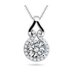 New Womens 925 Sterling Silver Micro Pave CZ Crystal Calabash Pendant Necklace