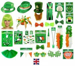 ST. PATRICK`S DAY IRISH GREEN FANCY DRESS PARTY COSTUME ACCESSORY SHAMROCK