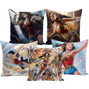 Cushion Cover Wonder Woman Printed Lint Throw Pillows Cover Pillowcase  cojines