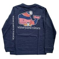 VINEYARD VINES Boys Long Sleeve Winter Sweater Whale Pocket Tee Blue NWT 5 6 7