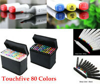 TOUCH5 80 Colors Professional Industrial Designer Twin Tip Marker Pens Artists