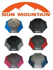 "SUN MOUNTAIN 2019 H2NO 68"" DUAL CANOPY AUTO OPEN GOLF UMBRELLA ALL COLOURS"